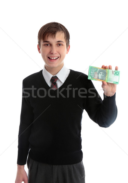 Student holding money Stock photo © lovleah