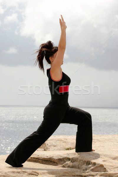 Female fitness lunge stretch Stock photo © lovleah