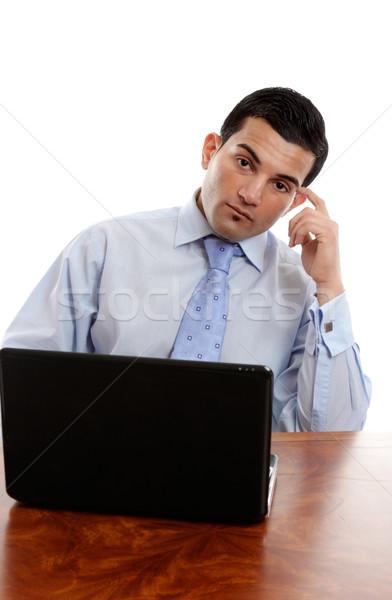 Businessman thinking Stock photo © lovleah
