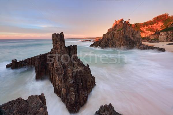 óceán körül vulkáni tenger első fény Stock fotó © lovleah