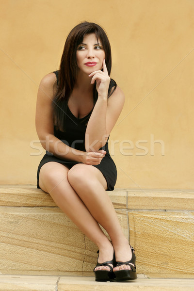 Businesswoman female thinkinking Stock photo © lovleah