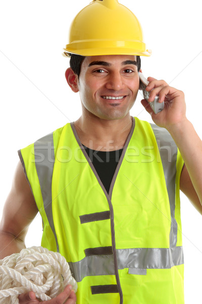 Happy builder construction worker Stock photo © lovleah