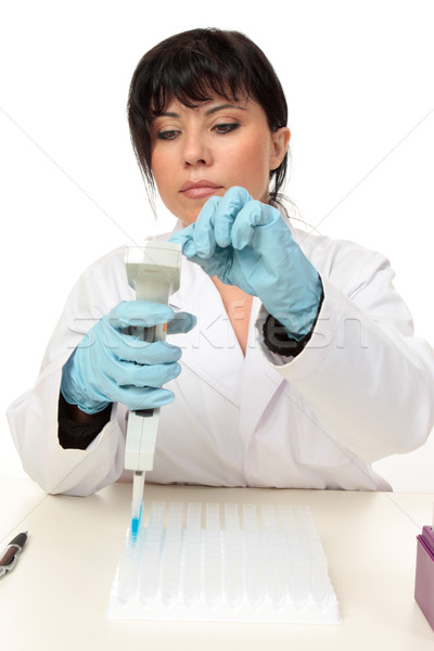 Scientist working with pipette Stock photo © lovleah