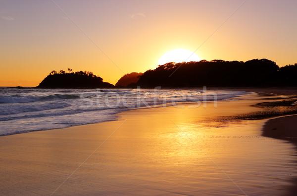 Napfelkelte legelső tengerpart Ausztrália arany nap Stock fotó © lovleah