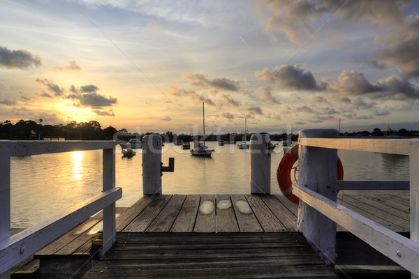 Afternoon sunset over Iron Cove Australia Stock photo © lovleah