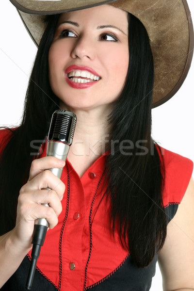 Country and western music singer Stock photo © lovleah
