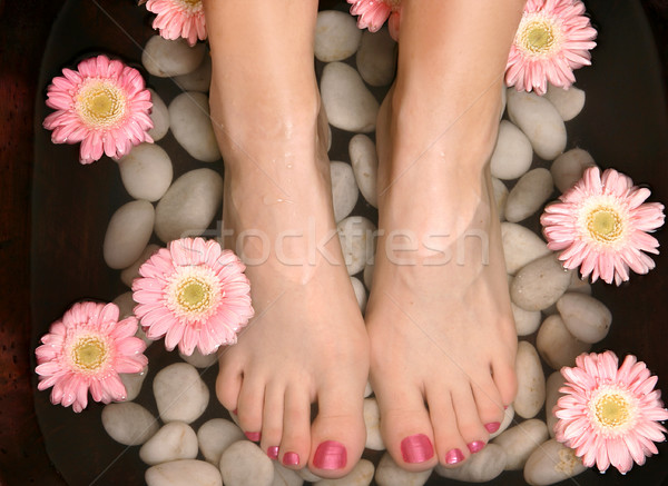 Aromatic relaxing foot bath pedispa Stock photo © lovleah