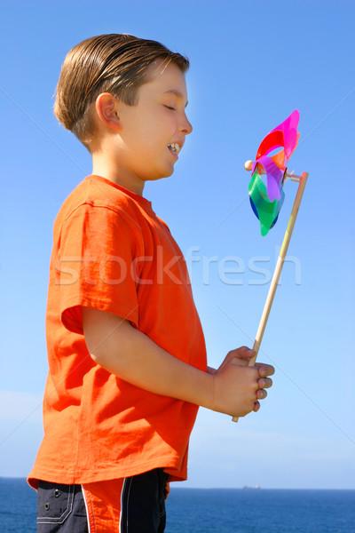 Pinwheel in the breeze Stock photo © lovleah