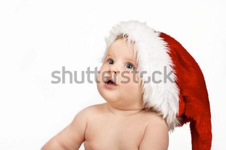 Christmas Santa baby looking up  Stock photo © lovleah