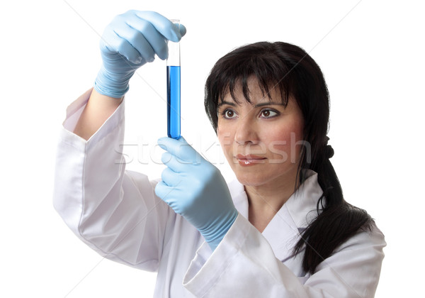 Scientist holding test tube Stock photo © lovleah