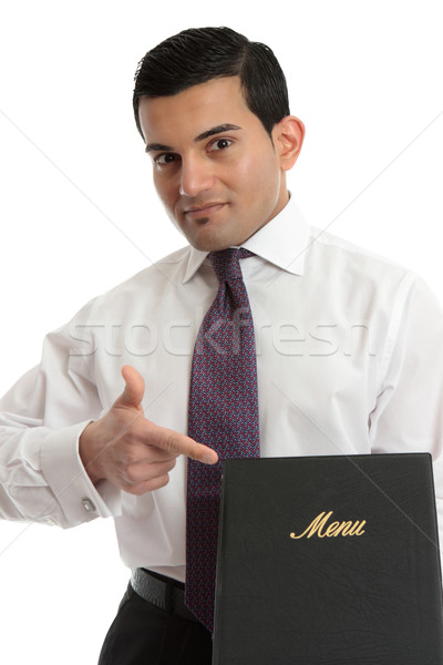 Man with a menu or other book Stock photo © lovleah