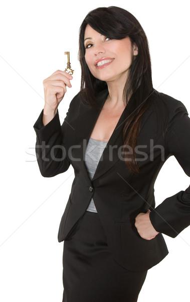 Businesswoman.  Key to  Stock photo © lovleah