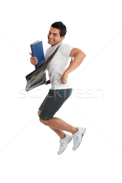 Excited University Student Jumping Stock photo © lovleah