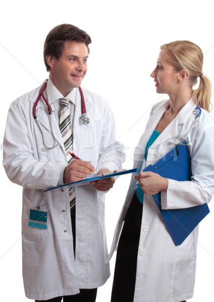 Stock photo: Doctors in discussion