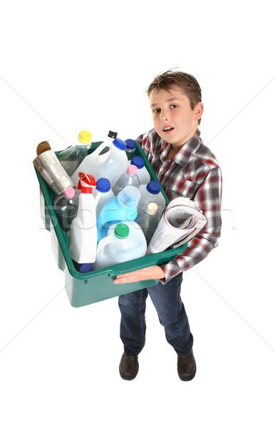 Geri dönüşüm atık yönetim çocuk Stok fotoğraf © lovleah