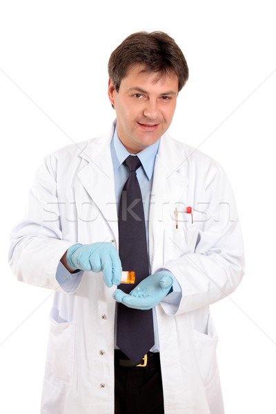 Doctor or vet with prescrption medicine Stock photo © lovleah
