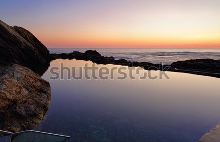 Dawn skies at the Blue Pool Stock photo © lovleah