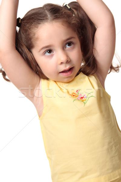 Toddler girl arms above head Stock photo © lovleah