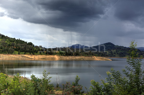 Rain over Wyangala Waters Australia Stock photo © lovleah