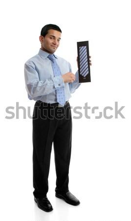 Vanzator mătase cravată alte Imagine de stoc © lovleah