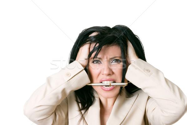 Mujer de negocios frustrado estrés tensión ansiedad presión Foto stock © lovleah
