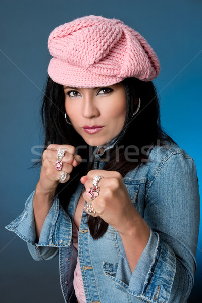 Beauty Female Knuckle dusters Stock photo © lovleah