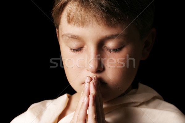 Praying child Stock photo © lovleah