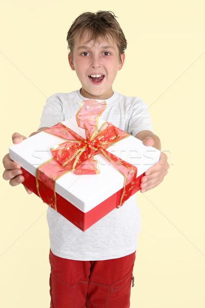 Mi regalo presente cinta masculina felicidad Foto stock © lovleah