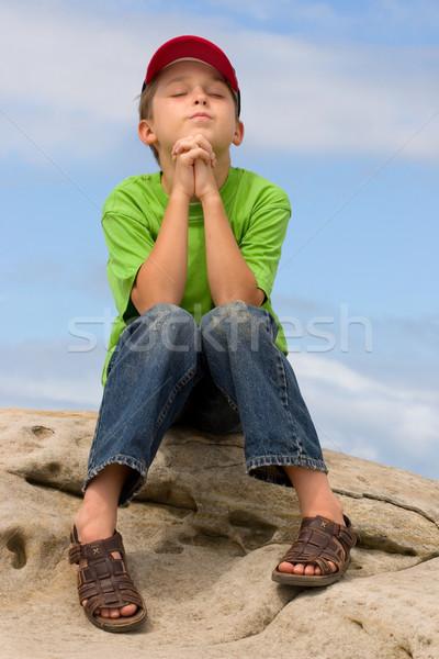 молитвы ребенка любви дети мальчика связи Сток-фото © lovleah