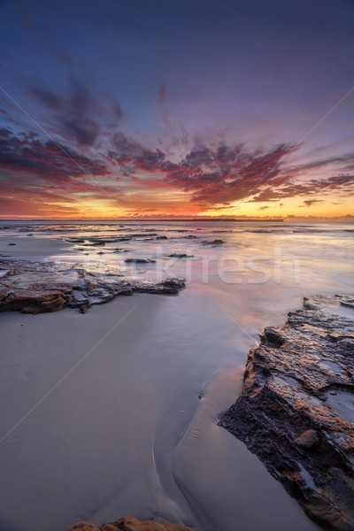 Foto d'archivio: Sunrise · Australia · meridionale · costa · piantagione · punto