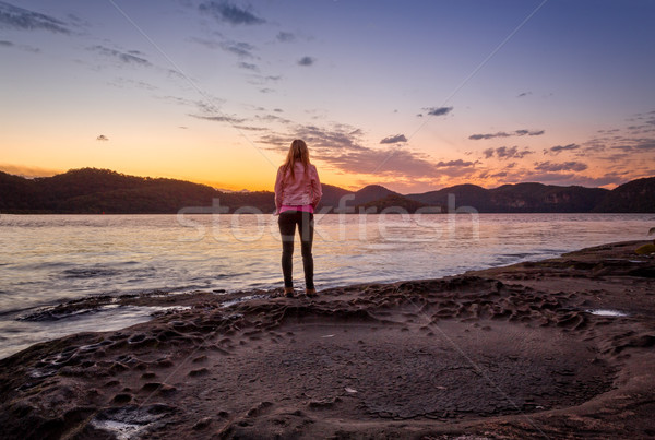 Watching the sunset from foreshore of Peat Island Stock photo © lovleah