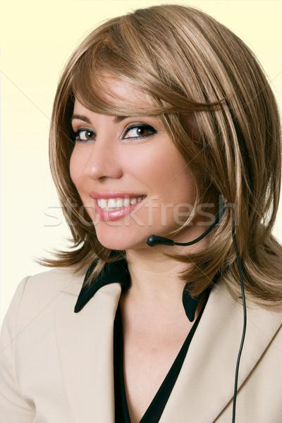 Smiling Help Desk Personnel Stock photo © lovleah