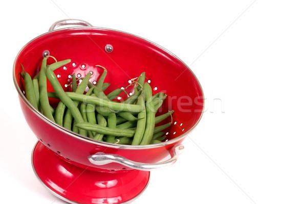 питательный зеленая фасоль свежие бобов белый продовольствие Сток-фото © lovleah