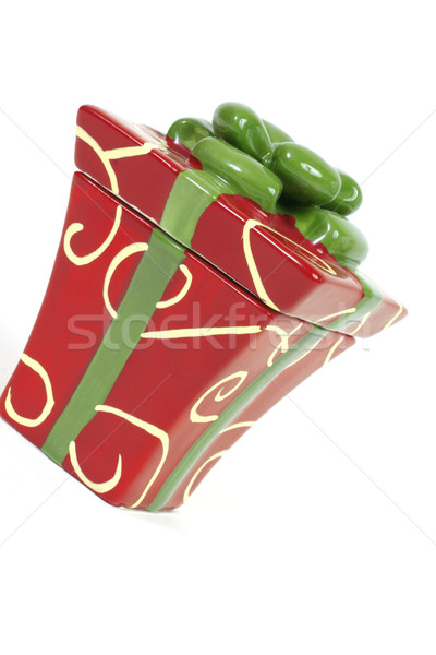 Giftbox red and green Stock photo © lovleah
