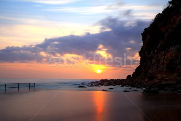 Sunrise at Macmasters Beach NSW Australia Stock photo © lovleah