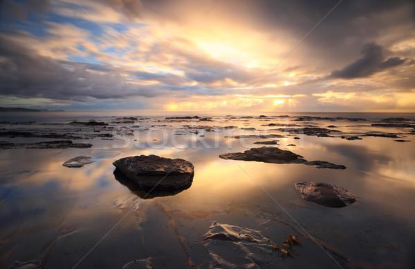 Collaroy reflections at sunrise Stock photo © lovleah