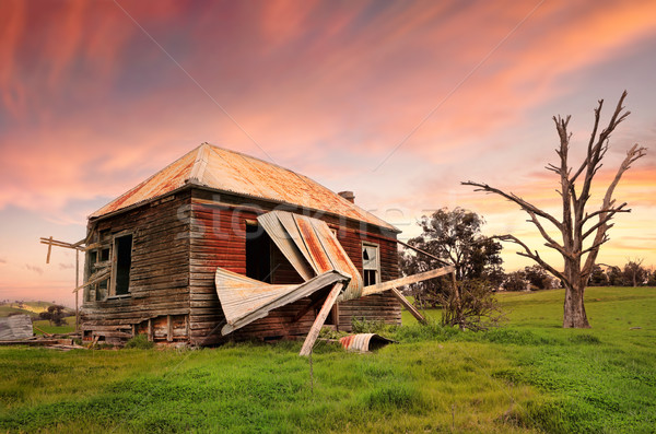 Abandoned dilapidated farm house Stock photo © lovleah