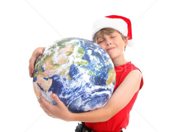 Christmas hugs around the world Stock photo © lovleah