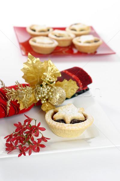 Gyümölcsös sütemények édes gyümölcs piték piros Stock fotó © lovleah