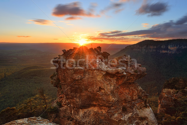 Sunset mountains Katoomba and Megalong Valley Australia Stock photo © lovleah