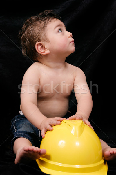 Boy with a construction hat Stock photo © lovleah