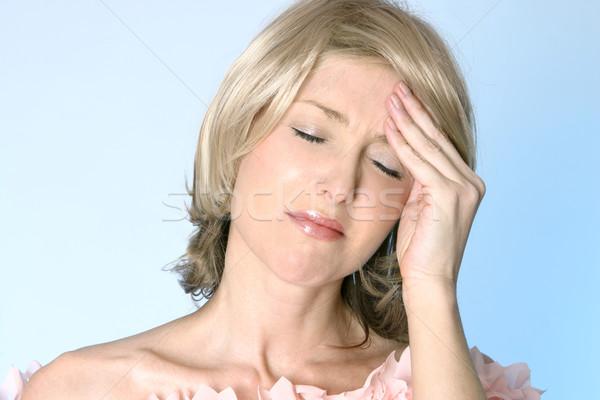 Kac głowy ból kobiet strony bolesny Zdjęcia stock © lovleah