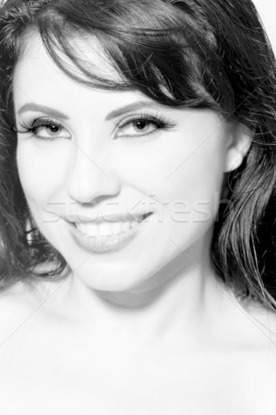 Beautiful smiling woman Stock photo © lovleah