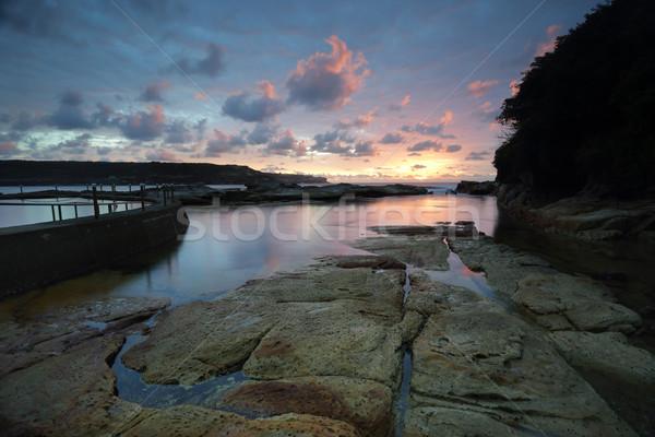 Katoen snoep zonsopgang Sydney Australië mooie Stockfoto © lovleah