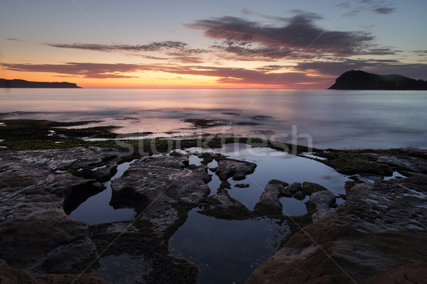 Dawn skies from Green Point Pearl Beach Stock photo © lovleah