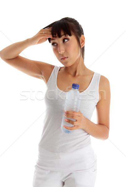 исчерпанный девушки фитнес молодые женщину Сток-фото © lovleah