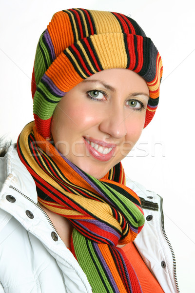 Vibrant woman dressed for winter Stock photo © lovleah