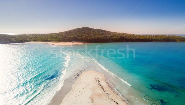 Spugen getij haven strand reizen zand Stockfoto © lovleah