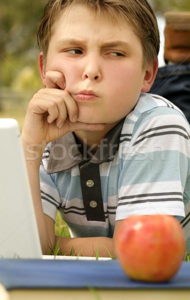 Studente difficile problema ragazzo lavoro Foto d'archivio © lovleah