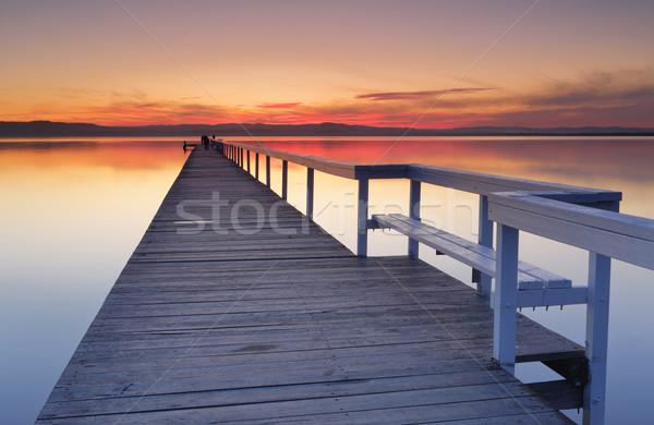 Long Jetty Sunset Stock photo © lovleah